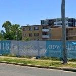 Mesh banner - Construction site wrap
