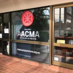 Window lettering for AACMA