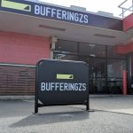 Shopfront signage and cafe barrier signs for Bufferingzs