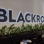 Illuminated office wall sign for BLACKROC