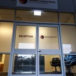 Business signage - Fascia sign and vinyl lettering window graphics for Master Consultants