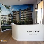 Sales Display Signage at The Chaussy -3D Acrylic Lettering and Wall Graphics