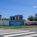 Timber Hoarding Signage with Anti-Graffiti Laminated Vinyl Banners | Construction, Production and Installation at MIRADA Sales Display